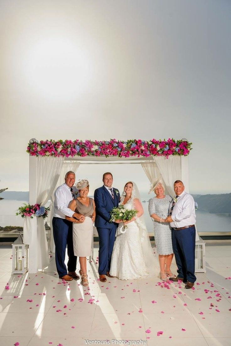 Shuttleworth Lee & Yeomans Carly,Santorini Weddings, Wedding venue, Wedding ceremony and reception, Sunset view