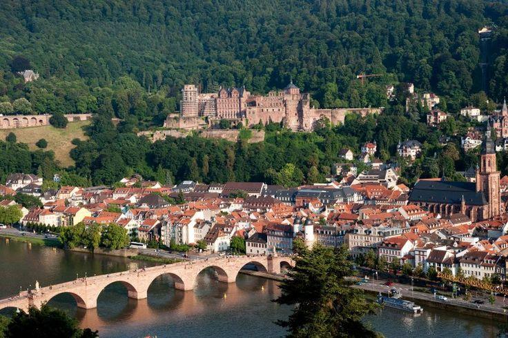 Heidelberg bridge and castle