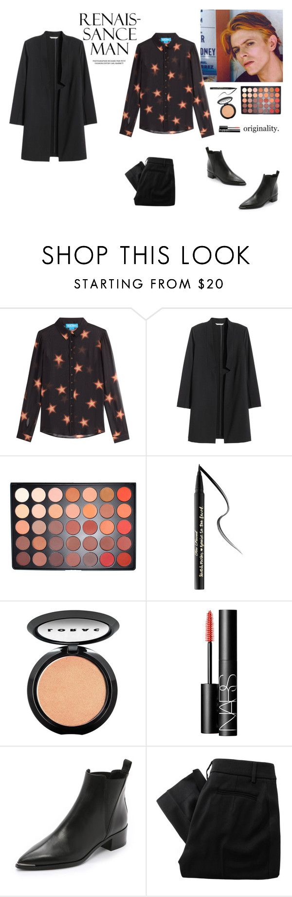 """Lady Grinning Soul-David Bowie"" by princesssophia ❤ liked on Polyvore featuring M.i.h Jeans, H&M, Too Faced Cosmetics, LORAC, NARS Cosmetics, Acne Studios and Vivienne Westwood Red Label"