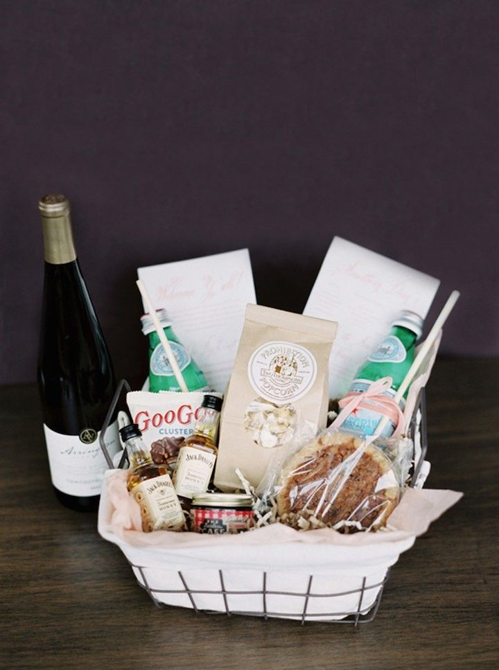 Wedding Gift Basket Ideas For Out Of Town Guests : ... Photography; Amazing welcome gift basket for out of town guests idea