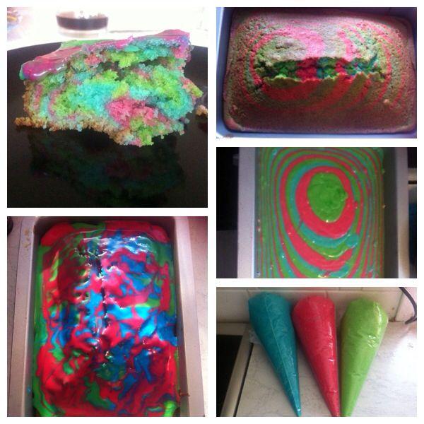 Regnbue kage