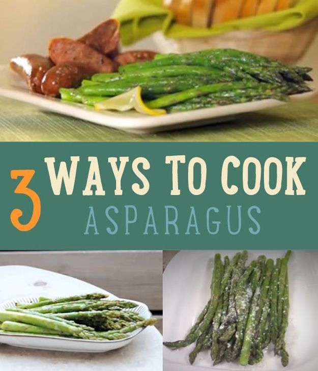 Asparagus Recipes! 3 Ways to Cook Asparagus | http://diyready.com/3-ways-to-cook-asparagus-how-to-cook-asparagus/