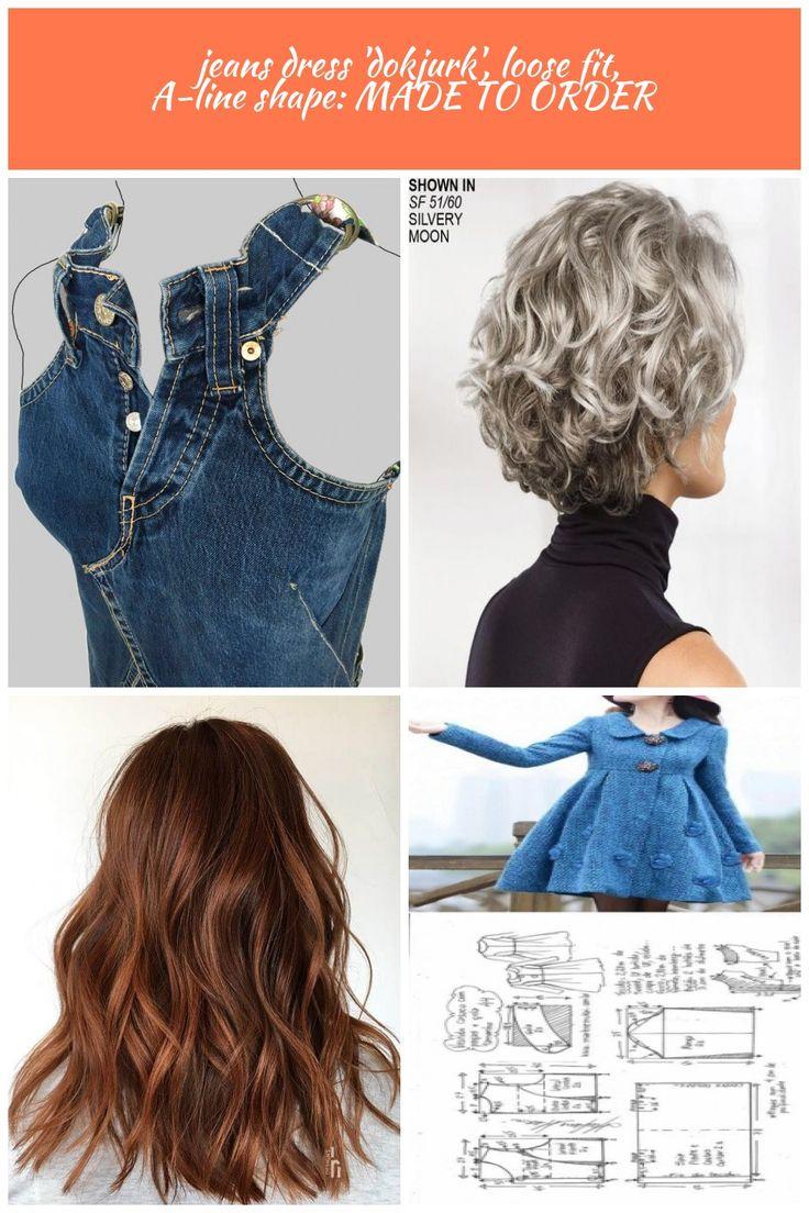 Jeans robe dokjurk coupe ample forme en ligne coupe jeans dress 'dokjurk&#39…