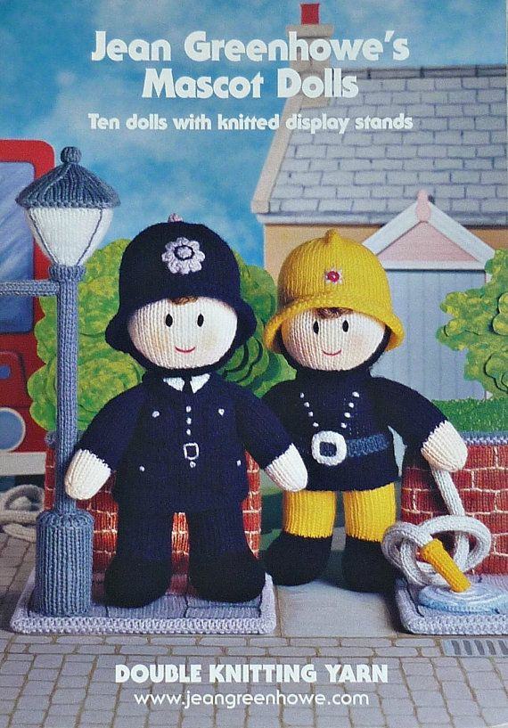 Toy Doll Knitting Pattern Book Mascot Knits In Dk By