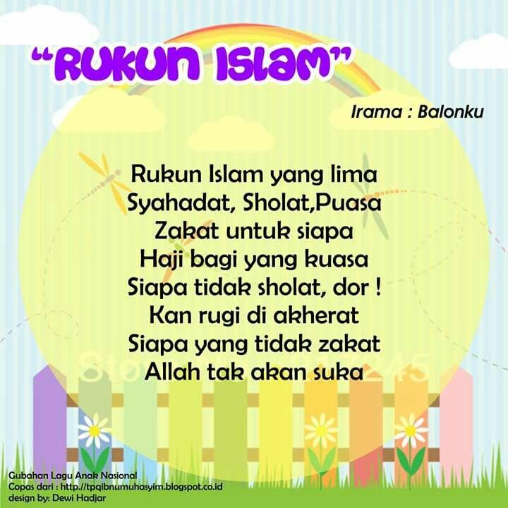 Rukun Islam (original song Balonku)