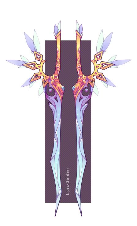 Weapon adopt 11 dual crystal blades(OPEN!) by Epic-Soldier.deviantart.com on @DeviantArt