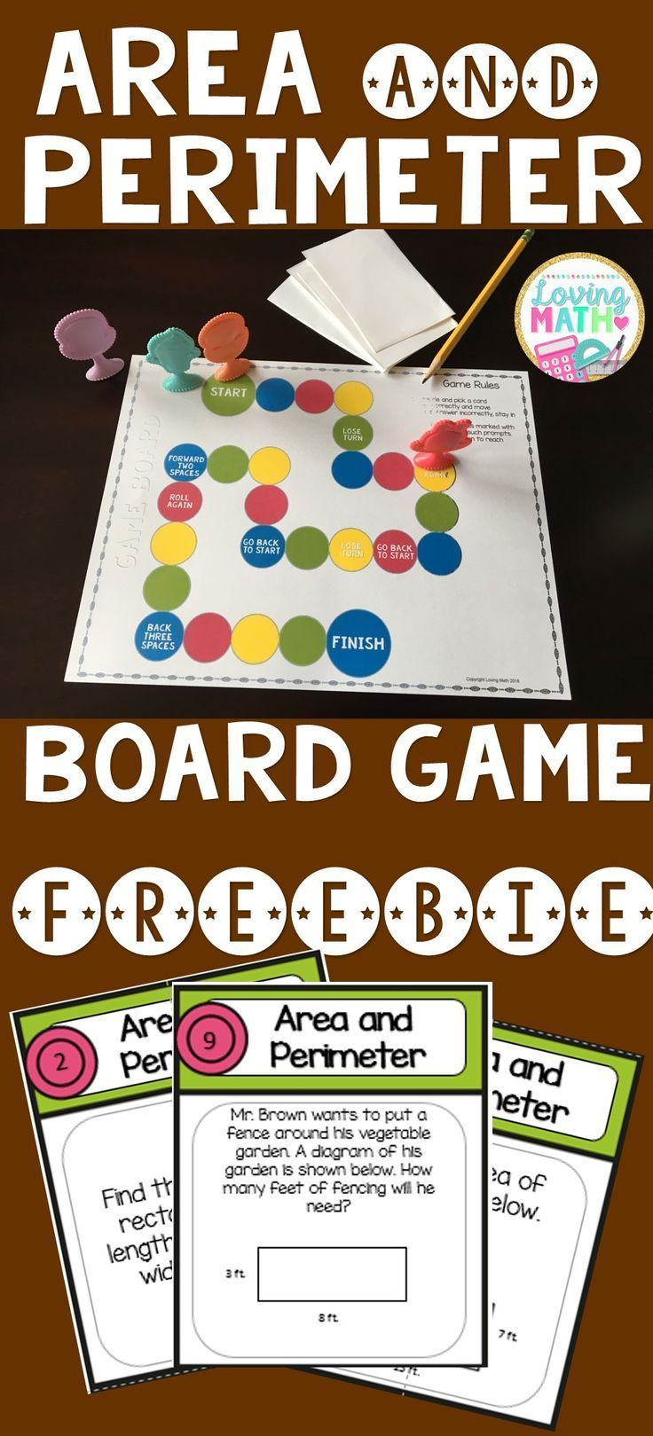 Great Freebie to practice area and perimeter! #mathpracticegames