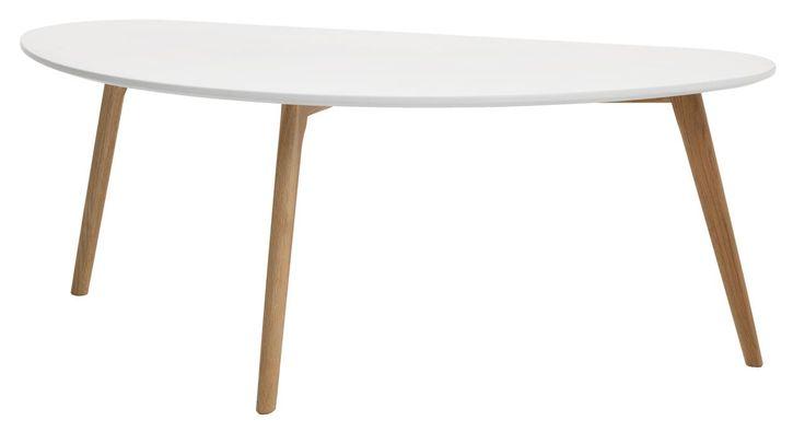 Konferenční stolek LEJRE 60×120 bílá/dub | JYSK