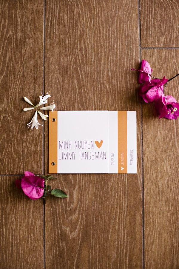Cute U0026 Colorful DIY Wedding Invitation// Minh U0026 Jimmyu0027s San Diego Wedding//
