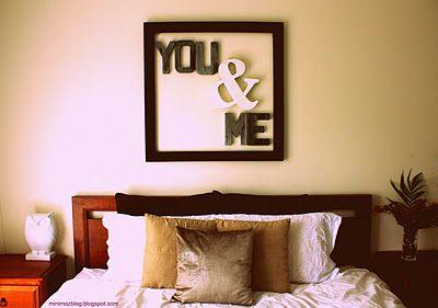 love!Wall Art, Art Work, Wall Decor, Diy Tutorials, Master Bedrooms, Cardboard Letters, Bedrooms Decor, Bedrooms Wall, Metals Letters