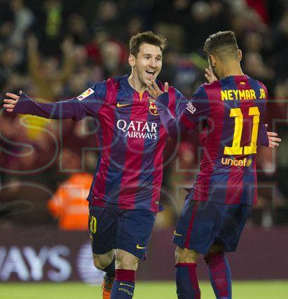 Messi & Neymar festejando | Barça, 5 - Espanyol, 1
