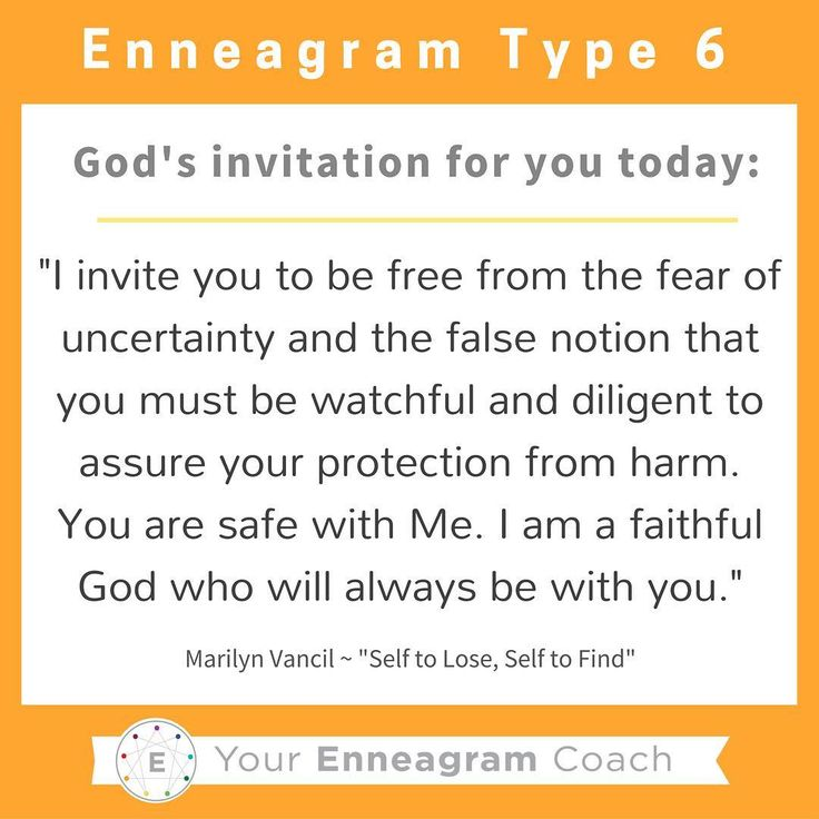 "Enneagram #Type6 this is the gospel message for your heart today! Each personality has particular thoughts and feelings that hinder what the liberating gospel message is saying to them. Read this TRUTH and allow it to sink deep into your soul. Ask the Holy Spirit to enable you to hear this message every day and expand your ability to embrace His truth and love for you because of what Christ has done for you and in you. Thanks to Marilyn Vancil and her book,""Self to Lose, Self to Find""…"