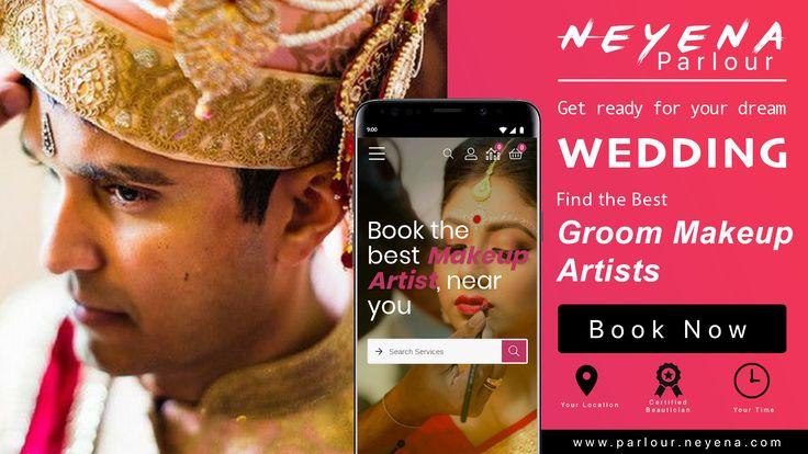 Book the best groom makeup artist near you on neyena