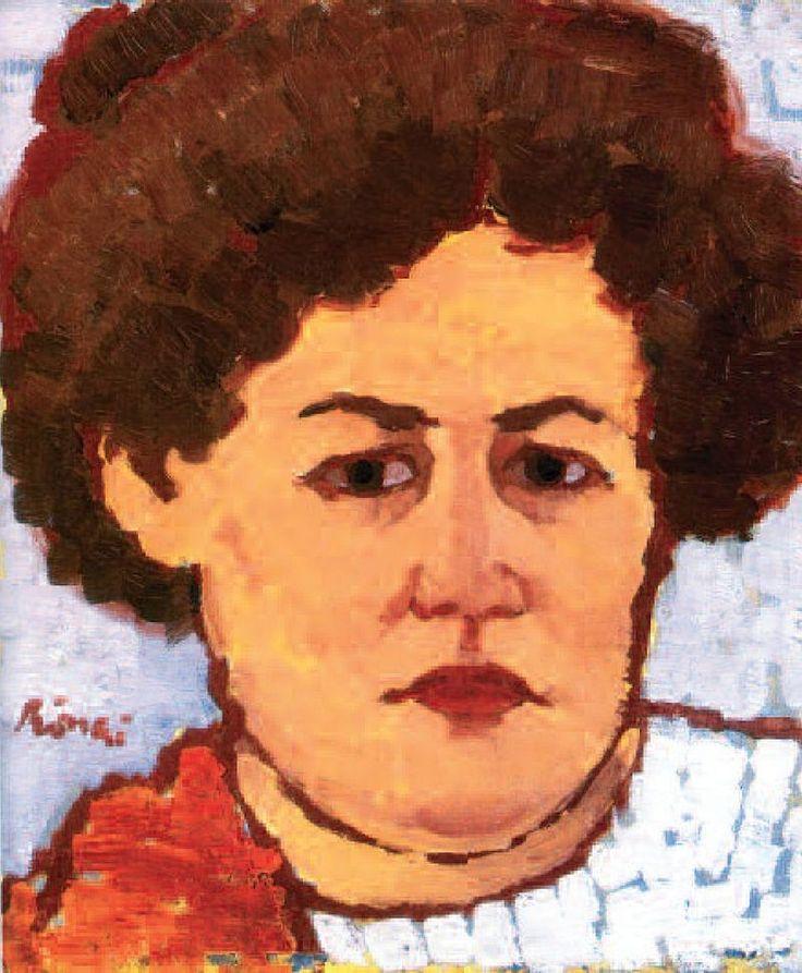 József Rippl-Rónai - Portrait of Mrs. Lajos Rónai 1913