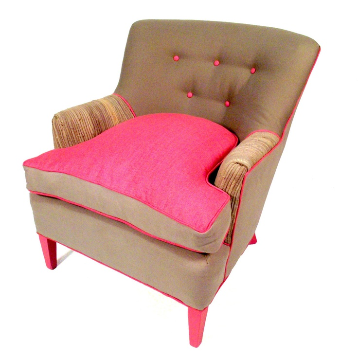 Fab.com | Gray CashmereGray Cashmere, Upholstered Seats, Pink Stuff, Adorable Stuff, Upholstered Chairs, Happy Chairs, Shawna Robinson, Accent Chairs, Chairs Collection