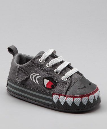 Take a look at this Charcoal Shark Sneaker by Vitamins Baby on #zulily today!