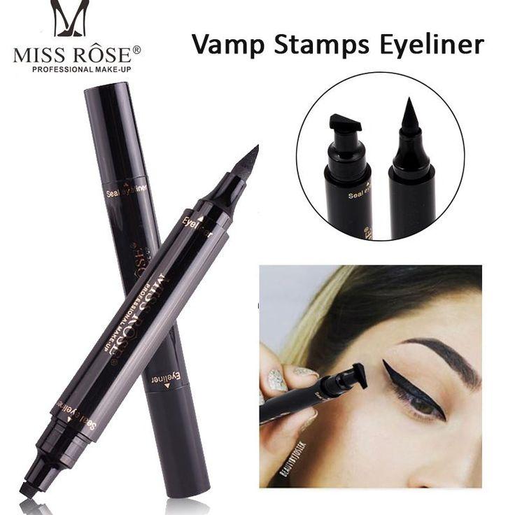 Black Waterproof Liquid Eyeliner Pen & Stamp                      – Glamour Belle