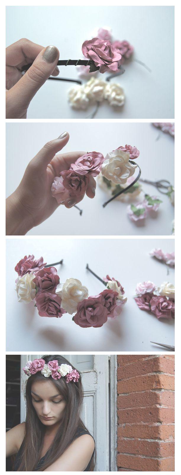 Fais ta propre couronne de fleurs sur La Rubrique à Brac