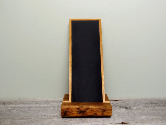 Handheld Chalkboard Tablet with Reclaimed Wood by TheHomeMarket