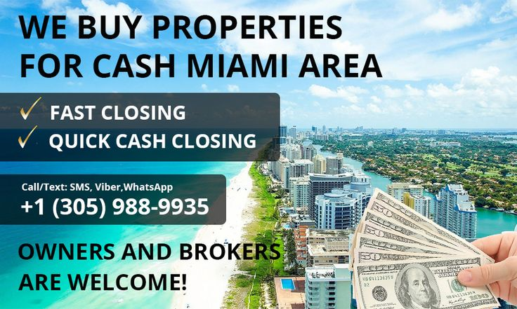 WE BUY PROPERTIES IN CASH SOUTH FLORIDA ✅ Fair price ✅ Free evaluation ✅ Quick cash closing +1(305)988-9935 ✅Please request full details by personal message to @gelfandconcierge or to 📧quickcashdealmiami@gmail.com, and we will answer you shortly. Thank you. @gelfandconcierge 📱Call/Text: +1(305)988-9935 (SMS, Viber,WhatsApp) ☎Office: +1(305)508-5891 Customer support 24/7 #buyinghouses #miami #RealEstate #buyinghomes
