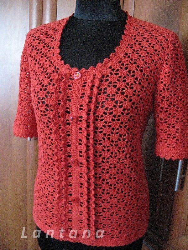 осинка вязание крючком Crochet Jacket Crochet Blouse и Crochet