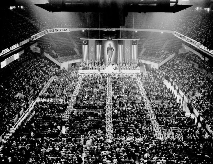German American Bund Pro-America Rally, Madison Square Garden, New York, New York, USA -- 20,000 participated in the rally, while 80,000 protested against it.