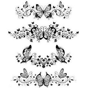 Butterfly Tattoos - thinking to put around my arm to finish my half sleeve.