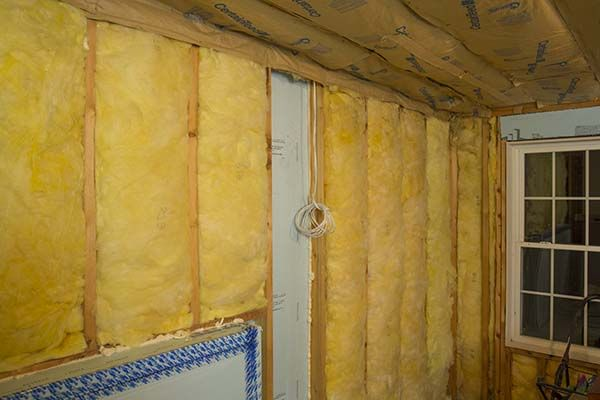Basement Walk Out Framed Wall Insulated With Dow Foam Board And