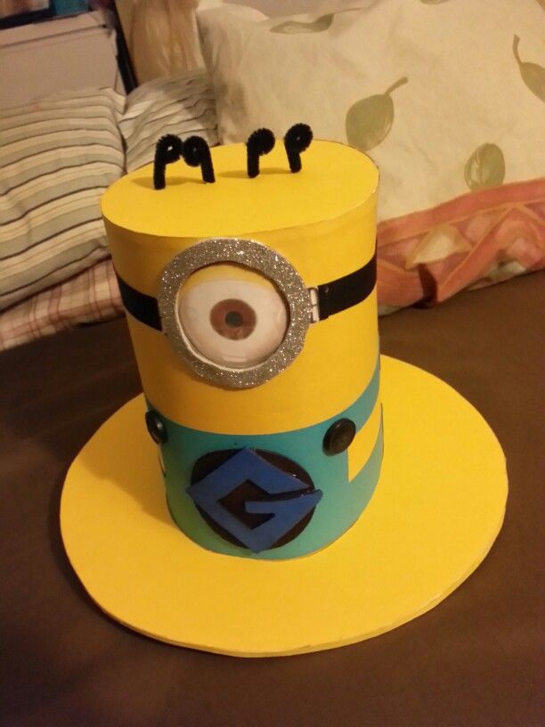 Minions Hat #sillyhatday #homemade  #madebyme