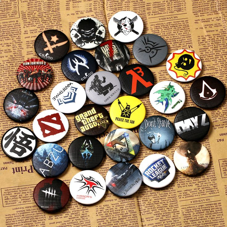 29 types New Arrival Watch Dogs 2 Pin BUTTONS Badges Brooches School Bag Badge Game Collection Great Gift For Women and Men fans