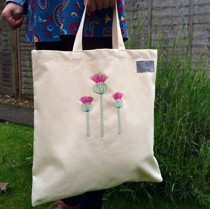 Jaggy Thistle Canvas Tote Bag