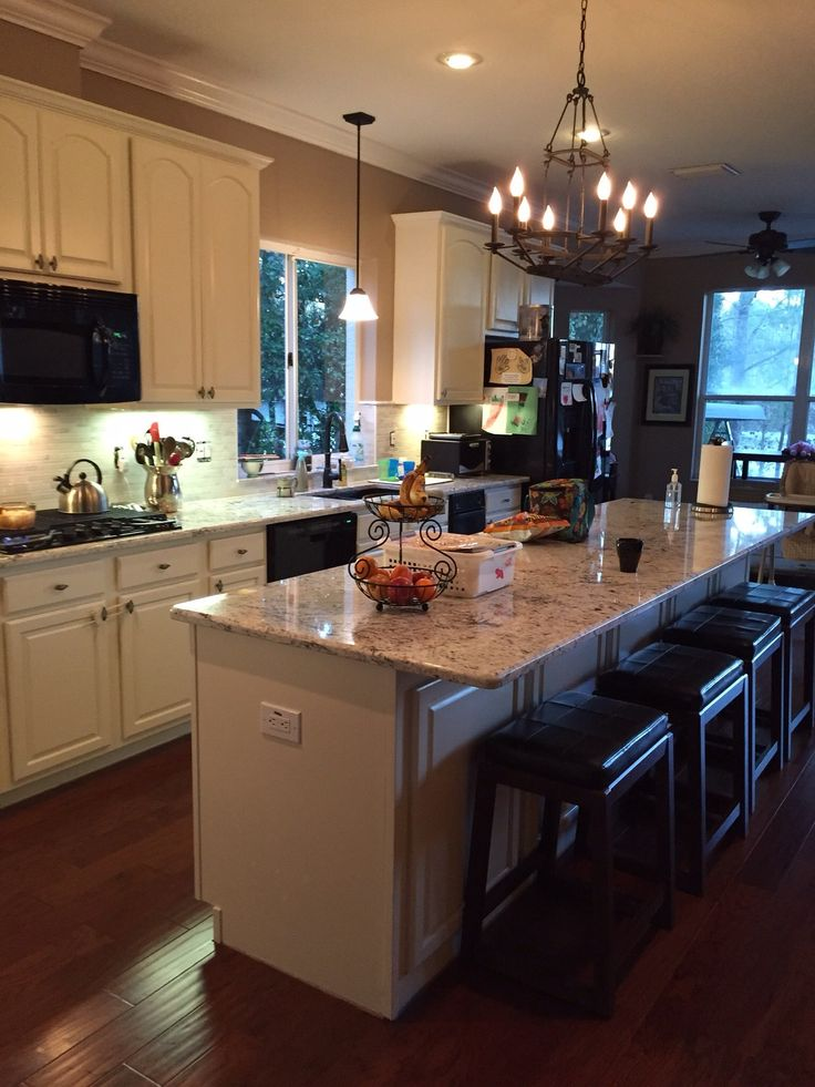 Kitchen cabinets done with GF antique white