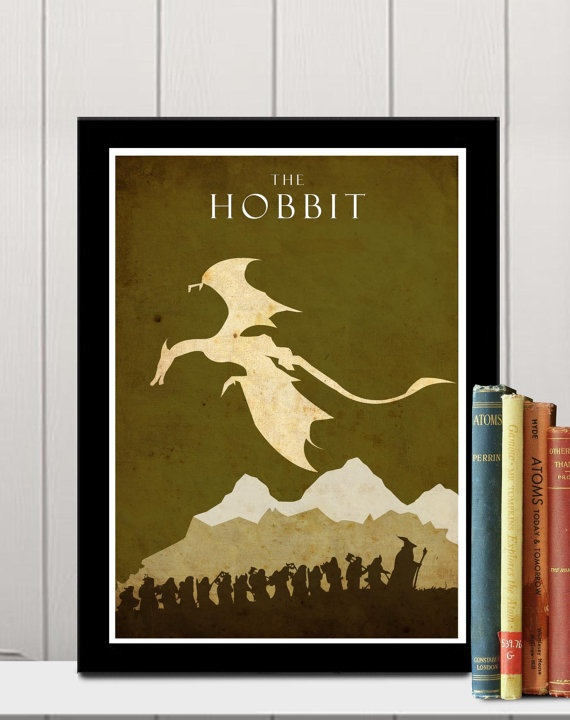 The Hobbit -  Lord of the Rings A3 poster