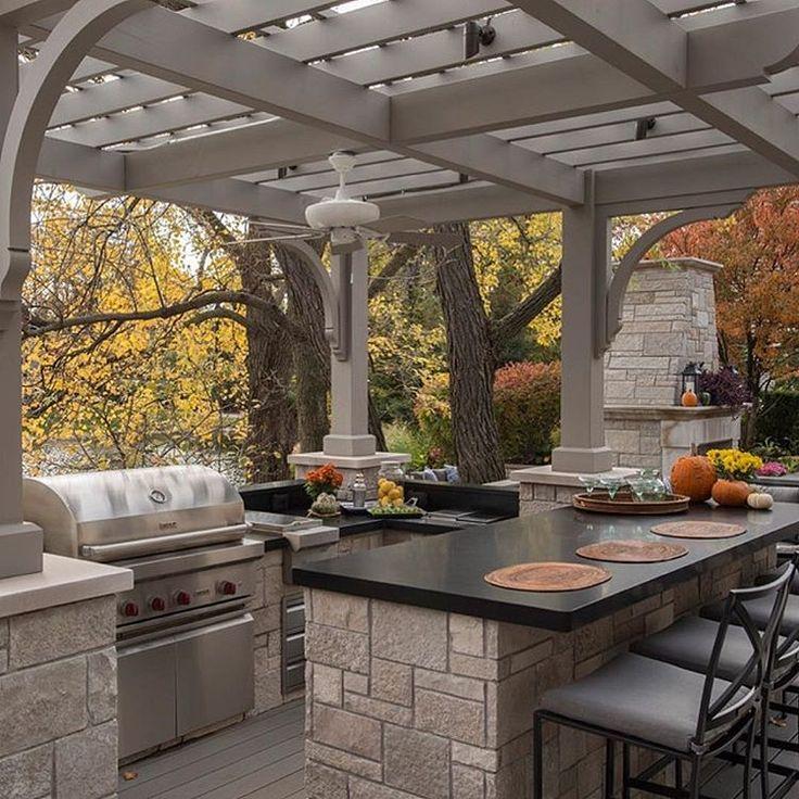 Best 25 Outdoor Bbq Kitchen Ideas On Pinterest Built In