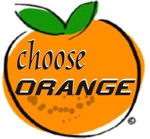 Choose Orange makes finding healthy items simple. The Choose Orange program follows the recommended US Dietary Guidelines.  Items marked with the Choose Orange symbol have less than 30% of calories from fat, whole grain, fruits, vegetables, lean proteins, and monounsaturated (heart healthy) fats.