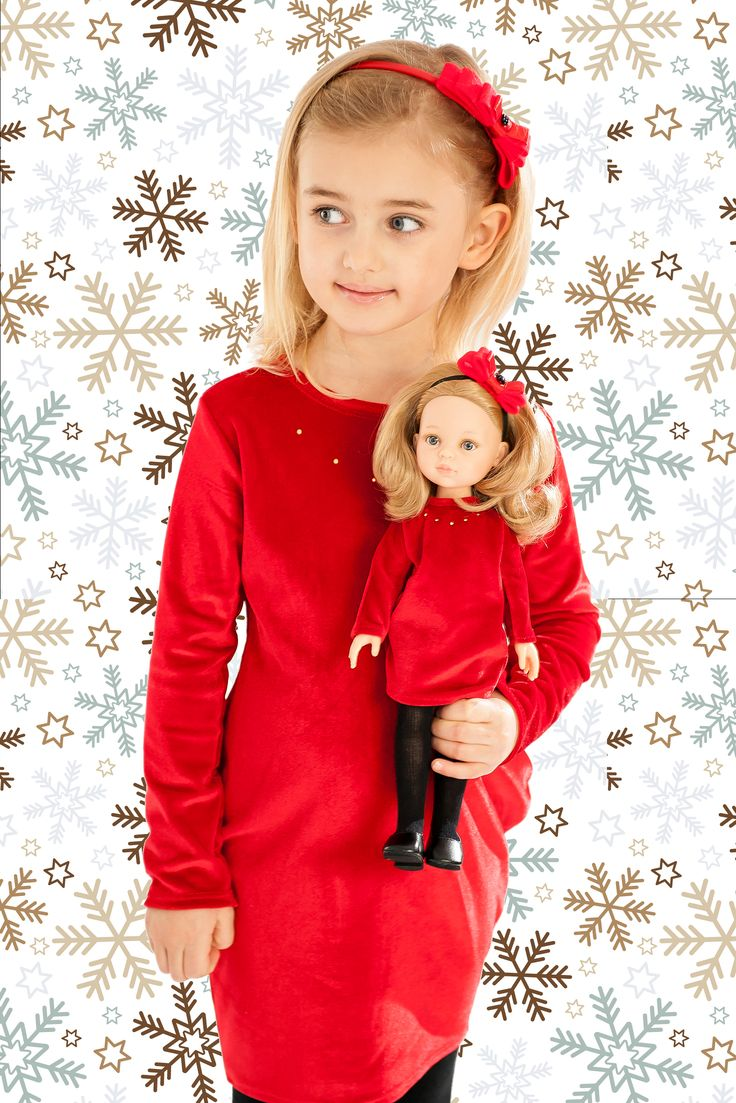 La Lalla Christmas or New Year's Eve dress fr girl and doll. Chick and elegance. Santa is coming to town! #Doll #Custom #Puppe #Lalka #Gift #Geschenk