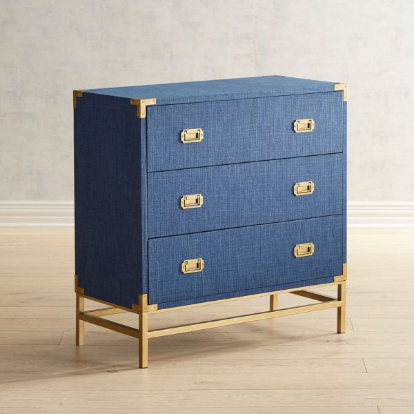 Lacquered Linen Campaign Dresser In 2020 Campaign Dresser Blue Chest Of Drawers Campaign Furniture