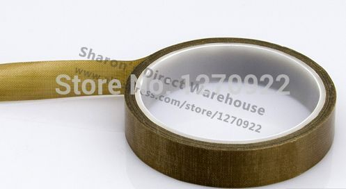 1 Roll 25mm*10 meters *0.13mm PTFE High Temperature Resist Insulation Adhesive Teflon Tape for LCD Sealer with tracking number