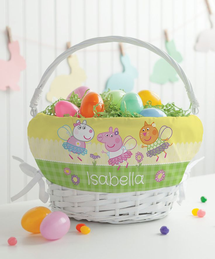 Take a look at this Peppa Pig Spring Personalized Basket today!