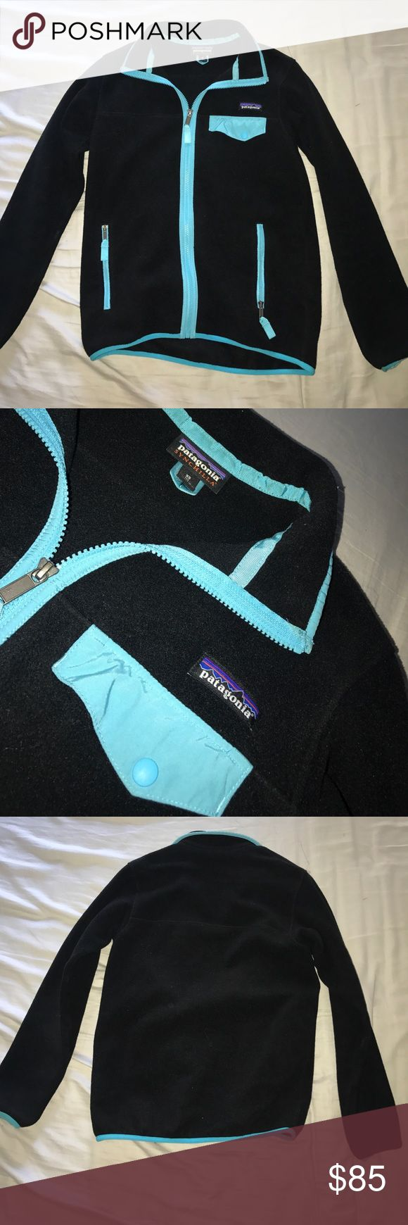 Black and Blue Patagonia Synchilla Jacket This is a very comfortable jacket to keep you warm in cold weather! This jacket is in extremely good condition. Patagonia Jackets & Coats