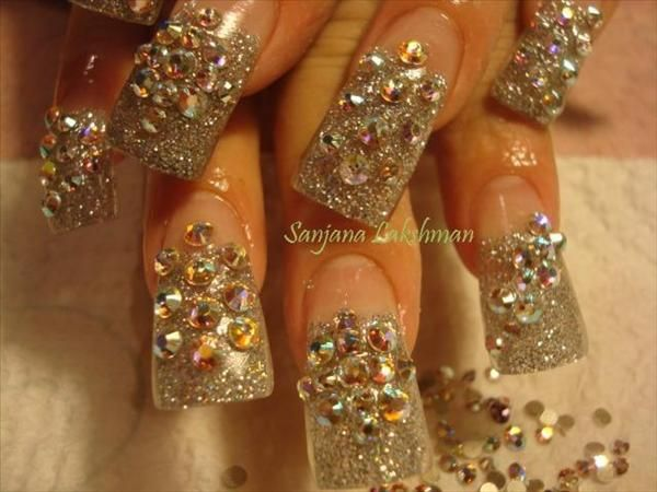 bling+nail+designs | tags bling nail gel nail art nail art gallery nail