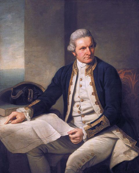 Captain James Cook, FRS, RN (7 November 1728 – 14 February 1779) Source: Wikipedia