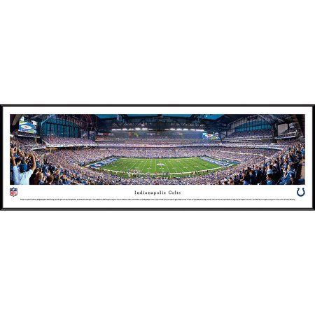 Indianapolis Colts - 50 Yard Line at Lucas Oil Stadium - Blakeway Panoramas NFL Print with Standard Frame