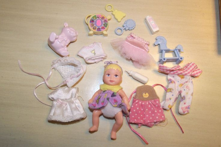 Barbie Baby Krissy Doll Layette Clothes Outfits Accessories Toys Lot | eBay (okay, how seriously cute is this? huh?)