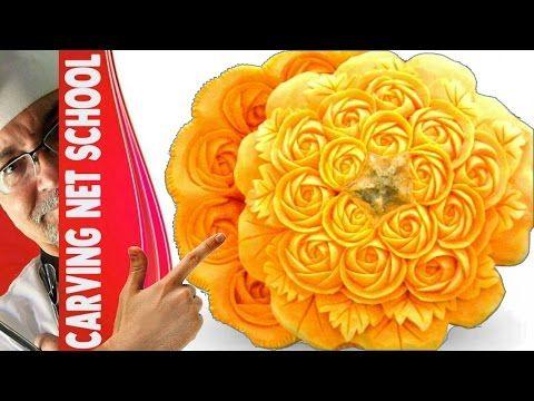 Art in pumpkin, escultura em abóbora, pumpkin carving, arte com abóbora,...