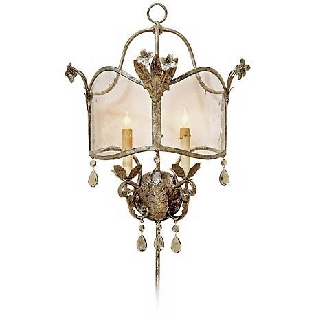 currey and company zara plugin wall sconce