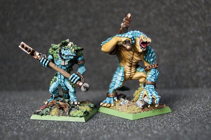lizardmen warhammer kroxigor comparation (GW vs. Woogity)