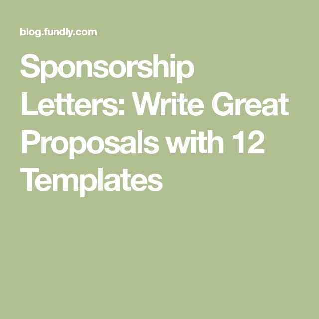 how to write a sponsorship letter for donations