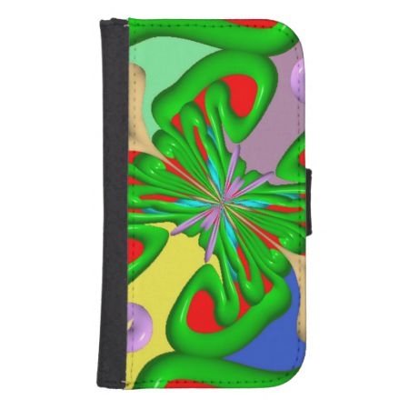 Colorful Ugly art Galaxy S4 Wallet Cases