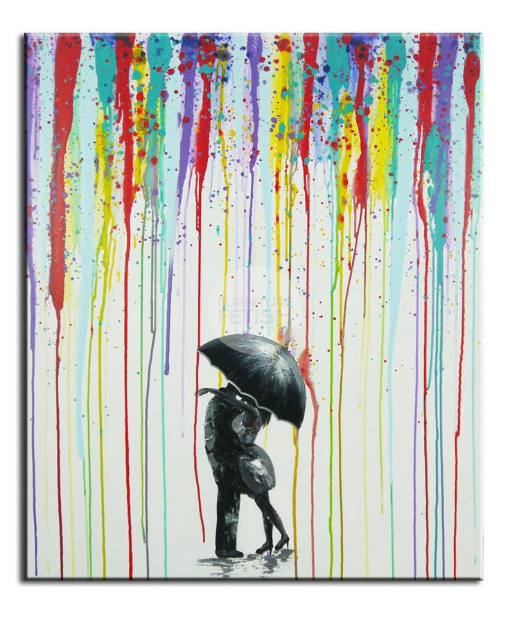 Dancing in the Rain Oil Canvas 100 x 80cm